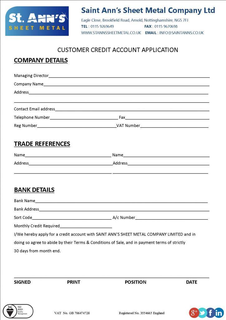 web-credit-account-application