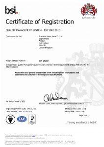 BSI ISO9001:2015